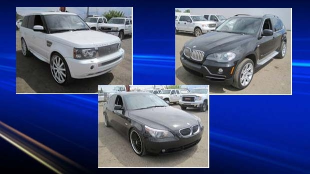 Investigators seized seven vehicles worth roughly $110,000 in total.