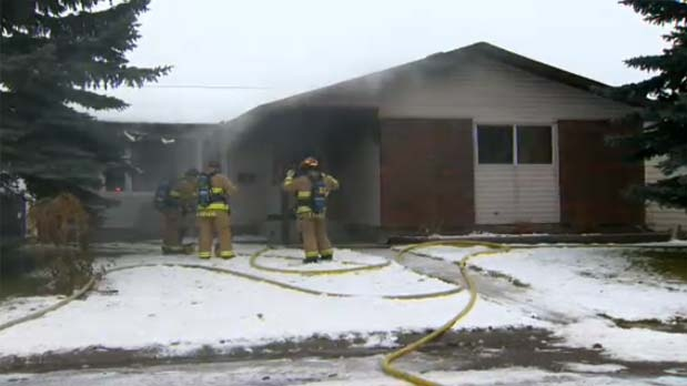 A fire broke out at a home in Deer ridge.