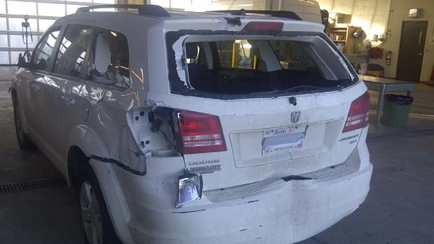 Police recovered a Dodge Journey in Varsity on Monday.