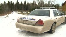 Police look into a homicide near Innisfail