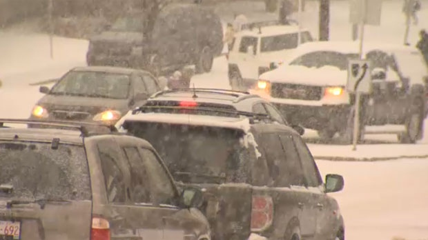 Calgary snow roads