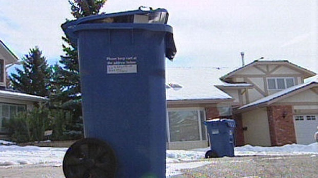 Calgary Blue Cart recycling