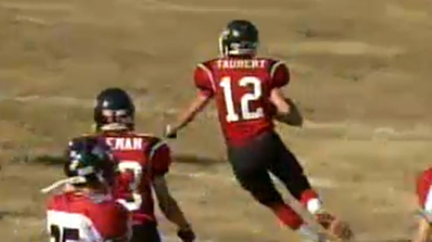 Quarterback of the Chestermere Cowboys, Brad Taubert, is the CTV Athlete of the Week