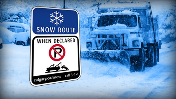 Calgary Snow Route parking ban