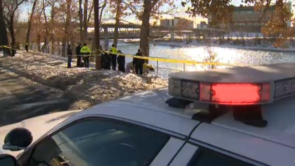 Emergency crews were called out to the Bow River after a body was discovered.