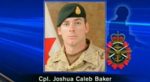 Cpl. Joshua Caleb Baker was killed when he was caught in the explosion of a Claymore mine on a training range in Afghanistan in 2010.