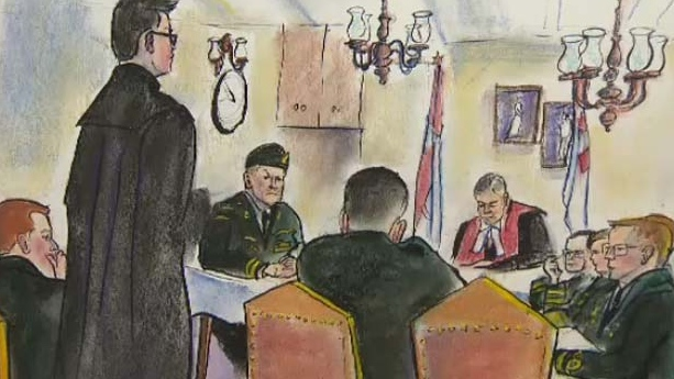 The court martial for Major Darryl Watts continues at Mewata Armoury in Calgary.