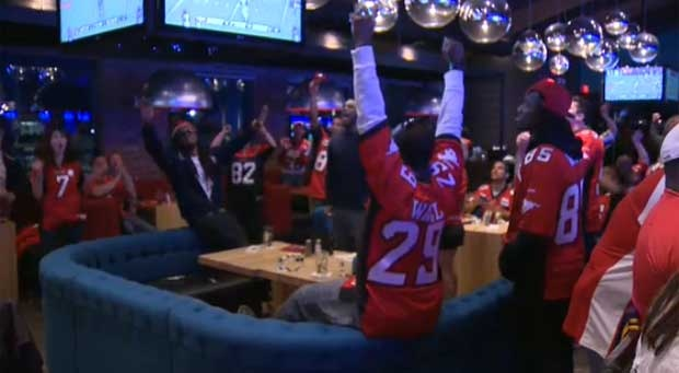 Stamps fans crowded into bars on Sunday night and they were well rewarded as their team won the Western Final in B.C.