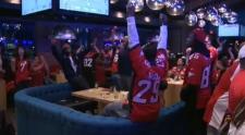 Stampeders fans celebrate win