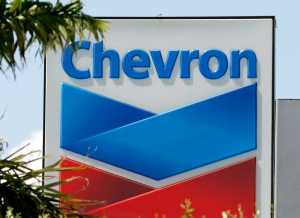 This Monday, Aug. 20, 2012 photo shows a Chevron sign in Miami. (AP / Alan Diaz)