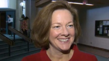 Premier Alison Redford spoke to the media