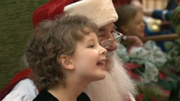 Southcentre Mall arranged a special Santa Claus meeting time for children with autism