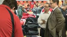 Flames merchandise sale