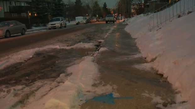 Marda Loop water main break