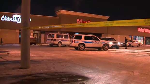 Police say the victim in a shooting on Wednesday night stumbled into a restaurant in this plaza in Midnapore.