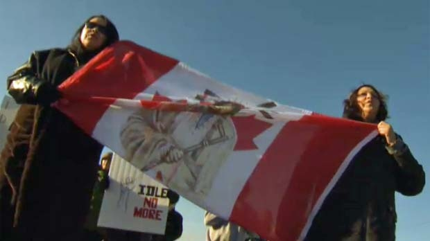 Members of the Tsuu T'ina Nation join the movement.