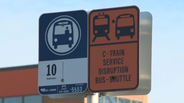 Shuttle buses will transport Chinook station commuters to the 39 Avenue station during renovations