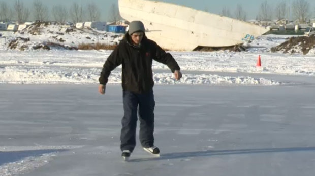 A Calgary man and his friends invested time and effort to create an outdoor skating rink in the city's northeast