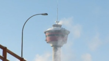 Calgary Tower winter