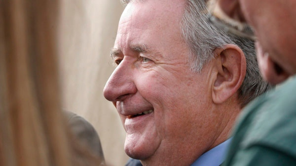 Alberta Premier Ralph Klein speaks to the media in Calgary, in this Sept. 20, 2006 photo. (Jeff McIntosh / THE CANADIAN PRESS)