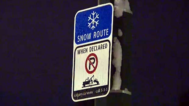 Calgary has issued a snow route parking ban after the snowfall on Wednesday night and Thursday morning.