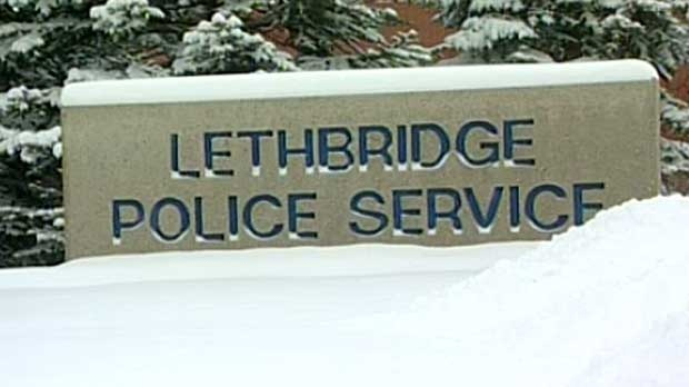 Lethbridge police sign