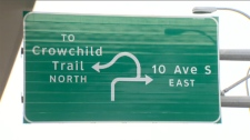 Bow Trail - Crowchild Trail interchange sign