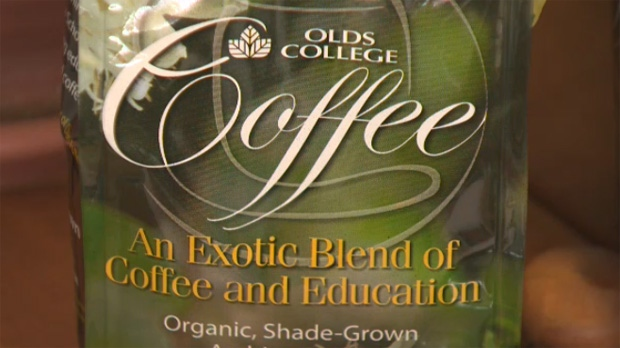 The slogan on the coffee bags reads 'an exotic blend of coffee and education.