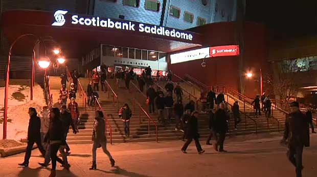 Fans filled the Saddledome on Sunday night even though the Flames lost to the visiting San Jose Sharks 4-1.