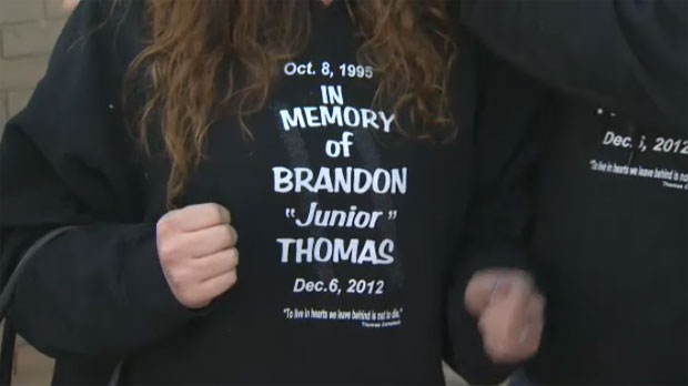 Brandon Thomas memorial shirt