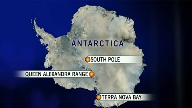 Map of the Terra Nova area, Antarctica
