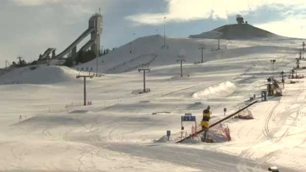 The lifts are still at Canada Olympic Park due to a cold weather closure