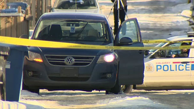 Police are investigating after a man was found slumped over inside a vehicle in an alley in the northeast community of Tuxedo Park on Monday. Neighbours say it's connected to a home invasion and shooting earlier in the night.