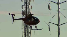 Enmax, helicopter, substation