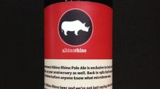 Albino Rhino label