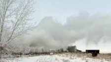 cochrane lake way, house fire, farm fire