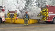 Cochrane lake way, farm house fire