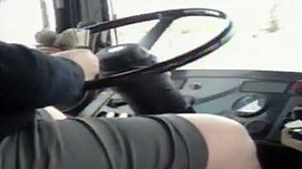 A viewer video shows a Calgary Transit driver allegedly folding transfers and driving distracted along a route on 9 Ave. S.E.