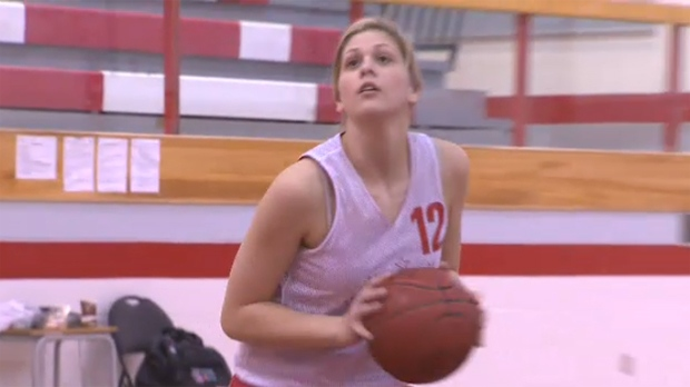 Chestermere's Aimee Wilson is set to take her game from Chestermere High School's gymnasium to the Jack Simpson gym at the U of C.