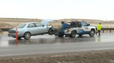 Freezing rain blamed for numerous crashes