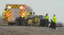 Emergency Crews - Fatal TCH crash