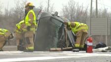 Fatal TCH crash - SUV cleanup