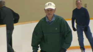 Al Wrightson continues to lace up his skates at the age of 89