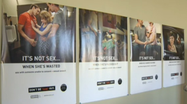 'Don't Be That Guy' new poster campaign from Sexual Assault Voices of Calgary