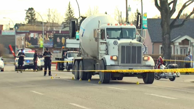 Concrete truck, pedestrian crash, fatal crash