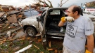 Allen Anderson surveys the damage to his home, Monday, May 20, 2013 in Moore, Okla. (AP / The Oklahoman, Steve Sisney)