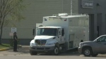 Members of Calgary's bomb squad weren't taking any chances when someone reported a suspicious package left at a gas station on Blackfoot Trail on Tuesday morning.