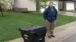 Graeme Zeiler says he is following the city's guidelines on garbage collection.