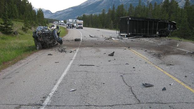 B.C. man dies, fatal crash, Jasper Transfer Statio