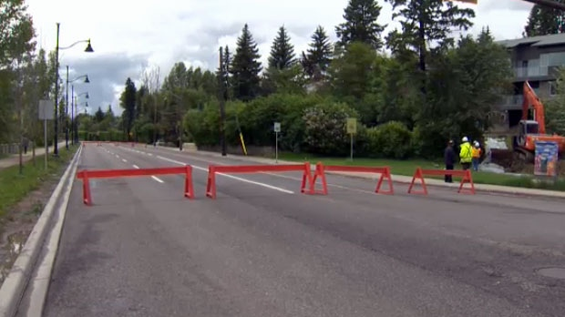 Roads near the Elbow River have been cordoned off and access restricted.
